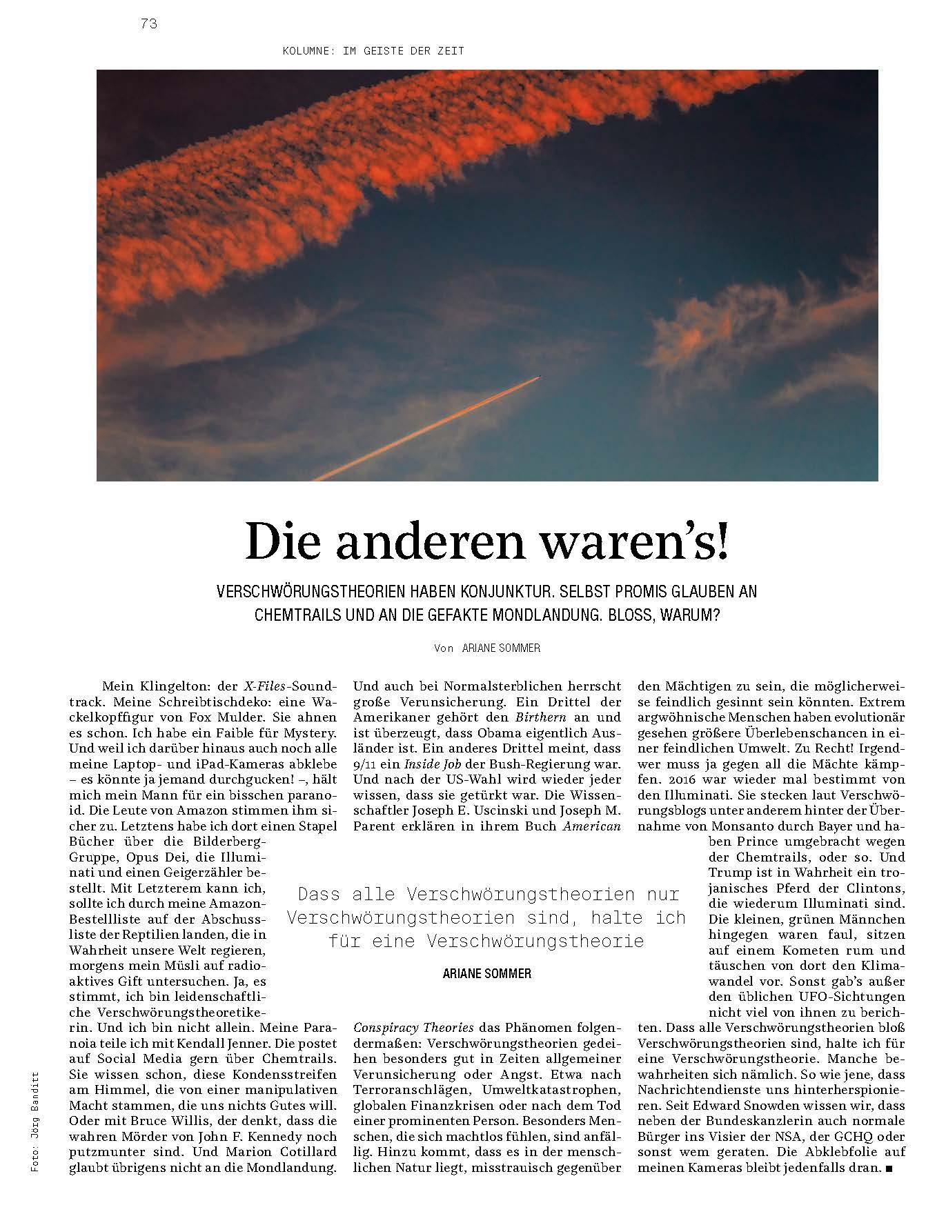 Titelfoto zu einem Beitrag in der Zeitschrift inter/VIEW vom November 2016